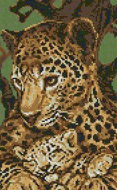 cross stitch animals | Free Patterns for Cross Stitch - Animals 08 - Leopard
