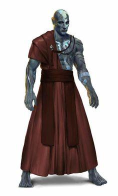 Male Oread Monk - Pathfinder PFRPG DND D&D d20 fantasy