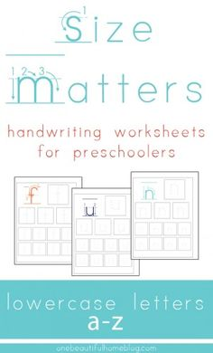 FREE Letter And Number Guide For Preschoolers