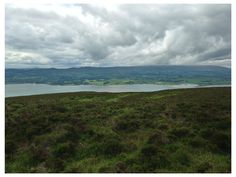 looking out from the top of Knocknarea, near the cairn