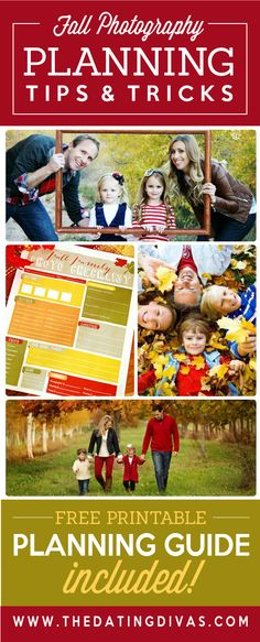 Fall Photography Planning tips and tricks! Free Printable Planning Guide Included!
