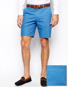 Asos Slim Fit Shorts In Washed Cotton Blue. Buy for $41 at Asos.