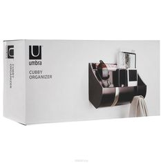 "Полка-органайзер Umbra ""Cubby"", цвет: темно-коричневый, 26 х 10,5 х 7,5 см…"