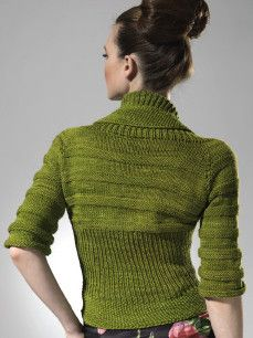 Textured Circle Shrug from Glam Knits by Stefanie Japel