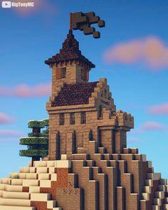 Minecraft Small Castle, Minecraft Castle Designs, Minecraft Medieval House, Minecraft Castle Blueprints, Art Minecraft, Minecraft Statues, Minecraft Cottage, Cute Minecraft Houses, Amazing Minecraft