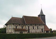 Marne : Châtillon-sur-Broué : Eglise Notre-Dame à pan de bois.