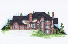 New American House Plan with 7038 Square Feet and 6 Bedrooms from Dream Home Source | House Plan Code DHSW26180