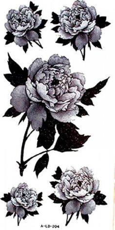 "Tattoo size 7.28""x3.54"" long last and non toxic and sweat fashion sexy floral peony fake temp tattoos. Safe and non-toxic design ideal for body art. Professional grade made to last 3 to 5 days and easily transferred by water. Perfect for vacations, girls night, pool parties, bachelorette parties, or any other event you want to look glamorous."