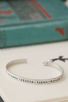 d088bda80e Lisa Leonard personalized bangles - you can still order in time for  Christmas Engraved Bracelets For