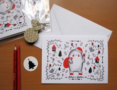 Christmas Cards by Alejandra Morenilla, via Behance