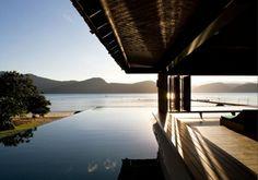 modernes Haus Meer Ferien Urlaub Fassade