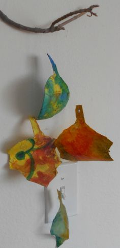 Fine Lines: Papier Mache Leaf Displays - 3 Variations