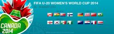 Fixtures of Fifa U-20 Women's World cup canada 2014 from Preminaries to Finals