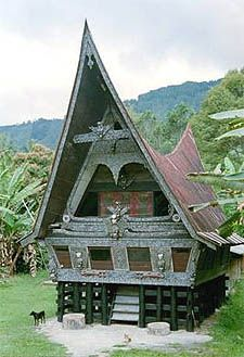 Batak house, North Sumatra (we lived down the street from a Batak church)