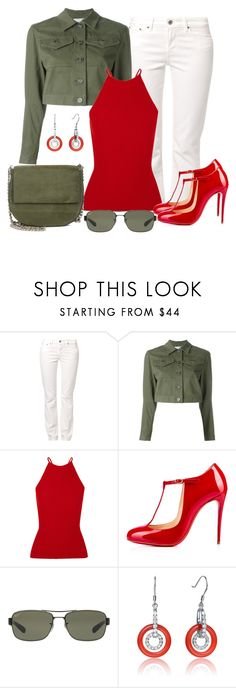 """Untitled #1407"" by gallant81 ❤ liked on Polyvore featuring Levi's, T By Alexander Wang, Alexander Wang, Christian Louboutin, Ray-Ban, Collette Z and Gvyn"