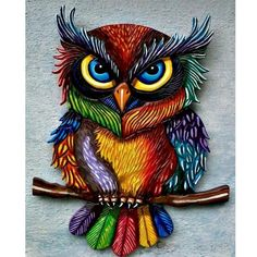 This beautiful fancy owl in a top hat makes an absolutely gorgeous diamond painting. If you're new to the craft, or want to learn more, check out our page on diamond painting here. Tableau Pop Art, Paper Quilling Designs, Quilling Ideas, Owl Pictures, Owl Always Love You, Beautiful Owl, Owl Crafts, 5d Diamond Painting, Owl Art