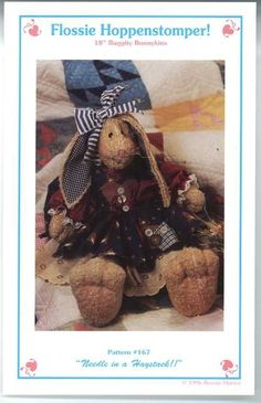 UNCUT Flossie Hoppenstomper Pattern 167 Needle in a Haystack Bunny Patterns #Crafts #Bunnies