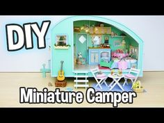 DIY Miniature Dollhouse Kit Cute Camper Room with Working Lights! / Relaxing Craft - YouTube