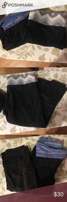 PINK and Aerie Yoga Capris Two pairs of black yoga capris. Good condition. PINK Victoria's Secret Pants Capris