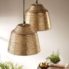 Basket Weave Aluminum Pendant Light | VivaTerra