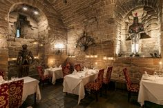 A completely unique dining experience in our ancient barrel-vaulted dungeons. Thing 1, Fine Dining, Getting Married, Places Ive Been, Barrel, Restaurant, Make It Yourself, Stay In A Castle, Edinburgh Scotland