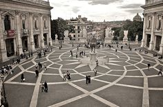Got inspired by Woody Allen's new movie. Here's piazza del Campidoglio in Rome.