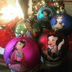 Made to order hand-painted shatterproof princess 100mm shatterproof ornament