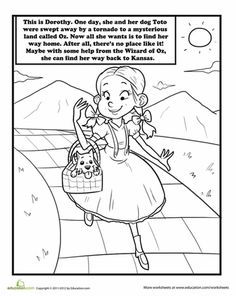 Worksheets: Color Dorothy and Toto