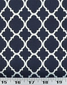 $135 for 30 yards  Quatrefoil Navy / White | Online Discount Drapery Fabrics and Upholstery Fabric Superstore!