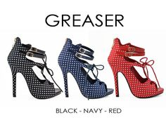 GREASER by Athena Footwear <available in 3 colors>  Call (909)718-8295 for wholesale inquiries - thank you!