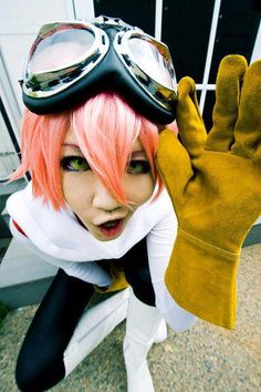deviantART.com's Kanasaiii's Haruko (FLCL) cosplay is so good that a robot literally just burst from our foreheads.