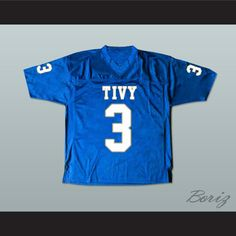 """Johnny Manziel 3 TIVY High School Football Jersey. I HAVE ALL SIZES and can change Name and Number(Width of your Chest)+(Width of your Back)+ 4 to 6 inches to account for space for a loose fit.Example: 18"""" wide chest plus 18"""" wide back plus 4"""" of space, would be a size 40"""".Please consider ordering a larger size, if you plan to wear protective sports equipment under the jersey.size chart chest:XS 30""""-32"""" Chest Measurement (76-81 cm)S 34""""-36"""" Chest Measurement (86-91 cm)M 38""""-40"""" Chest…"""