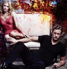 Alexander Skarsgard and Anna Paquin - Eric and Sookie- True Blood