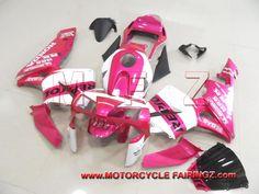 2003 2004 HONDA CBR 600 RR Motorcycle Cowling Fairing Pink Repsol FFKHD007