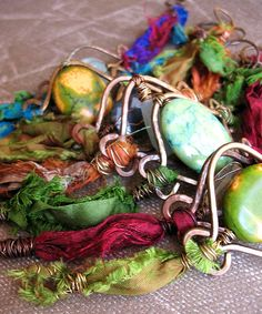 Forged metal frames with gemstones and silk | Flickr - Photo Sharing!