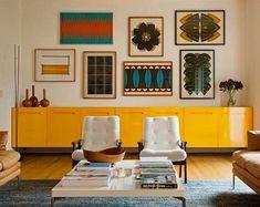 504 vind-ik-leuks, 9 reacties - Beatrice Fontana (@beatricefontanastudio) op Instagram: 'I think is so #nice to #mixandmatch the #interior #styles : the #pop #yellow #cabinet is a #touch…'
