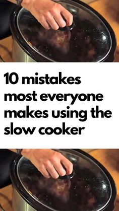 Here are 10 common mistakes most people make when using the slow cooker. Crock Pot Soup, Crock Pot Slow Cooker, Slow Cooker Recipes, Crockpot Recipes, Cooking Tips, Cooking Recipes, Slow Cooking, Ninja Cooking System, Laughing Therapy