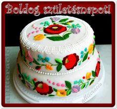 születésnap, képek, képeslapok, torta, magyar, kalocsai, matyó,