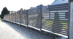 What sort of garden fencing should I choose? (From Amy Buxton) House Fence Design, Modern Fence Design, Front Yard Design, Horizontal Slat Fence, Compound Wall, Grill Design, Metal Fence, Garden Fencing, New Homes