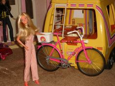 Super Star Barbie with Star Traveler motorhome bike rack. I had this AND the car that attached to the back.  Wish I had kept it!