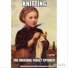 """76 Likes, 4 Comments - Dana Gervais (@knitalot924) on Instagram: """"We're always way ahead of all the trends #knittersrock #knittingiscool #itstrue"""""""