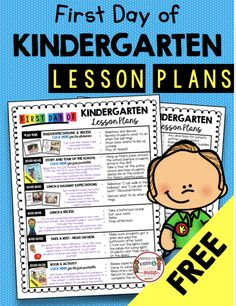 AUGUST — Keeping My Kiddo Busy AUGUST — Keeping My Kiddo Busy FREE First Day of Kindergarten Lesson Plans - kindergarten math and reading freebies - first day of school activities and printable Kindergarten First Week, Kindergarten Freebies, First Day Of School Activities, Kindergarten Math Activities, Kindergarten Lesson Plans, 1st Day Of School, Preschool Lessons, Preschool Kindergarten, School Starts