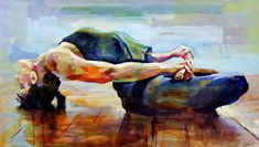 """A-Musing Thought: Photo """"Yoga by Anthony Barrow ~ acrylic painting on canvas"""" Yoga Painting, Acrylic Painting Canvas, Yoga Inspiration, Yoga Drawing, Yoga Illustration, Yoga Images, Yoga World, Yoga Art, Yoga Meditation"""