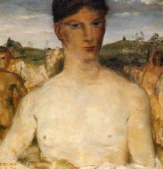 Torse d'Homme - 1929 - Paul Delvaux.  Collection Particuliere