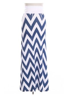 Mint chevron maxi skirt on sale! $24.99