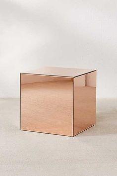 Copper Mirrored Cube