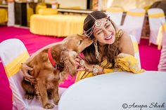 Adorable Bridal Portraits With Their Pet Dogs! Dog Wedding, Wedding Shoot, Wedding Photoshoot, Bride Pictures, Cute Pictures, Wedding Pictures, Dog Portraits, Bridal Portraits, Indian Wedding Planning