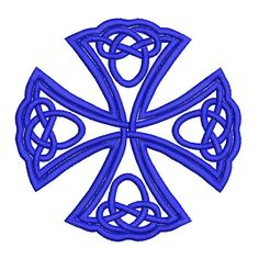 Machine Embroidery Design Instant Download - Celtic Iron Cross