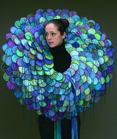 Marjorie Schick makes artwork that challenges the idea of jewelry being art or art being jewelry, etc. Marjorie Schick makes artwork that challenges the idea of jewelry being art or art being jewelry, etc. Textile Jewelry, Textile Art, Jewelry Art, Body Jewelry, Textiles, Ideas Joyería, Body Adornment, Higher Design, Sculptural Fashion