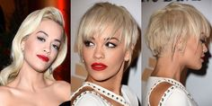 Hair chameleon Rita Ora is at it again, debuting what might just be our favorite of her styles yet—and that's saying a lot! We're just obsessed with her new choppy pixie, it's the perfect mix ofedgyand sexy.   - ELLE.com